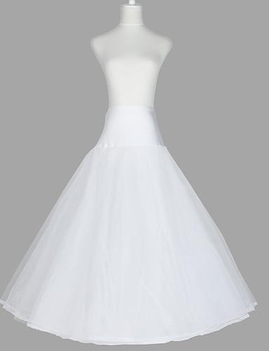 billige Truser til bryllup-Bryllup / Spesiell Leilighet / Fest / aften Underkjoler Organza / Taft / Tyll Gulvlengde A-linje Merke / Klassisk & Tidløs med