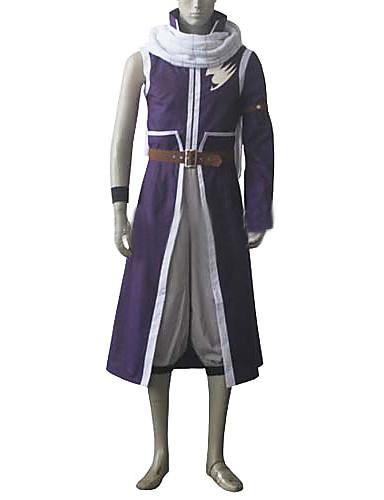 abordables Cosplay de Animes-Inspirado por Fairy Tail Natsu Dragneel Animé Disfraces de cosplay Trajes Cosplay Retazos Chaqueta / Pantalones / Accesorios de Cintura Para Hombre