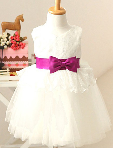 A-line Sleeveless Tulle Flower Girl Dresses With Bow
