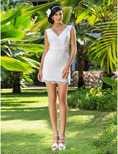 Lanting Bride® Fourreau / Colonne Petites Tailles / Grandes Tailles Robe de Mariage - Chic & Moderne / Brillant & Séduisant / Réception