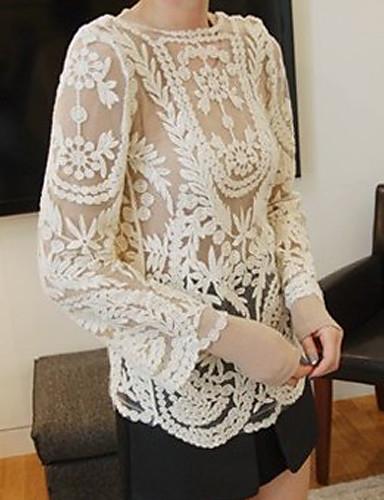 bordados de encaje de crochet calado de la mujer pura outwear