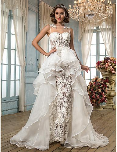 Lanting Bride® A-vonalú   Hercegnő Alacsony   Extra méretek Menyasszonyi  ruha - Divatos és modern   Elegáns és fényűző Vintage-inspirált 739815 2019  – ... 9cde6cdaa3