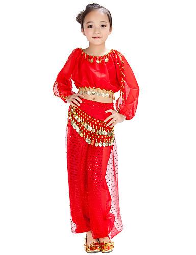 Göbek Dansı Kıyafetler Şifon Payet Madeni Para