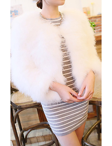 szép hosszú ujjú gallér strucc szőrme party   alkalmi kabát (több színben)  836139 2019 –  139.99 71af915807