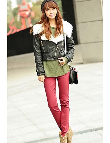 Inna Ženska Crvena boja Candy Elastični Skinny hlače