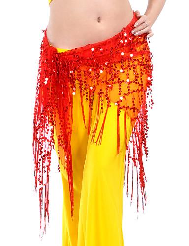 Břišní tanec Pásek Dámské Trénink Polyester Flitry Šátek přes boky