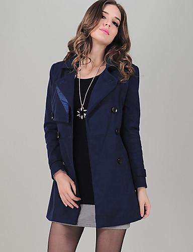 ACOM NO.9 Navy Blue Lapel Neck Fit Big Size Double Breasted Coat