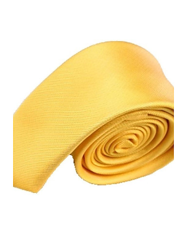 Muška Čvrsta Boja Moda Gold Žuta Narrow mikrofibra Kravata