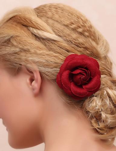 stof bomuld blomster hovedstykke bryllupsfest elegante feminine stil