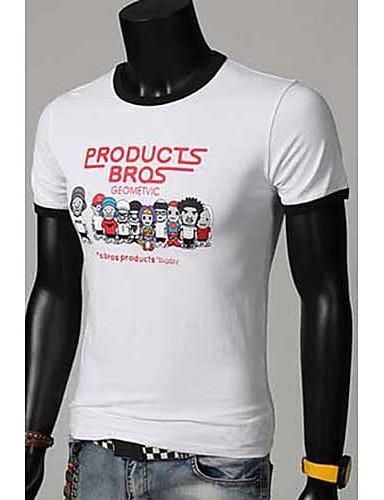 mencool mænds afslappet tegneserie print t-shirt