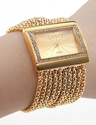 baratos Relógios de Pulseira-Mulheres Relógios Luxuosos Bracele Relógio Relogio Dourado Japanês Quartzo Cobre Dourada imitação de diamante Analógico senhoras Luxo Brilhante Fashion Elegante - Prata Dourado Um ano Ciclo de Vida