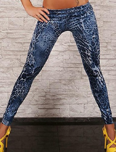 damesmode denim legging, polyester spandexsporty fashion slim