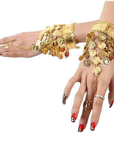 cheap Belly Dancewear-Dance Accessories Jewelry Women's Sequined / Metal Coin / Tassel Christmas Decorations / Halloween Decorations