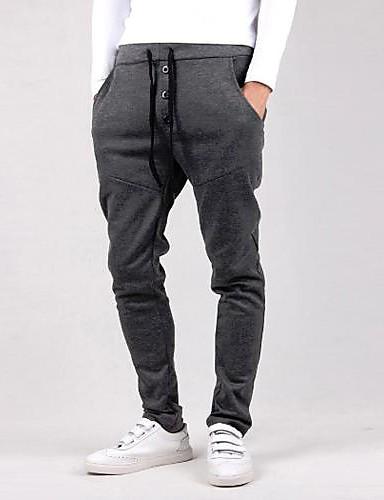 Bărbați Simplu Activ Talie Medie Larg Activ Zvelt Pantaloni Sport Pantaloni Bumbac Îmbrăcăminte tricotată Mată Primăvară Toate Sezoanele