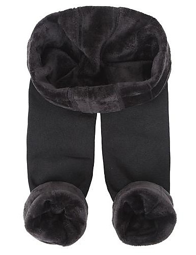 Damen Strumpfhose-Solide Samt Ultra-Warm