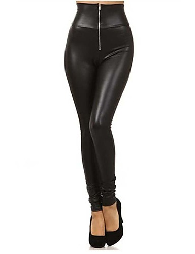 Women's WorkWear Date Daily Wear Sporty Legging - Solid Colored High Waist