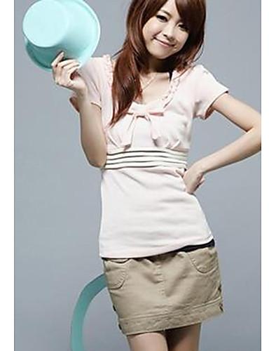 T-skjorte Dame-Ensfarget Søtt