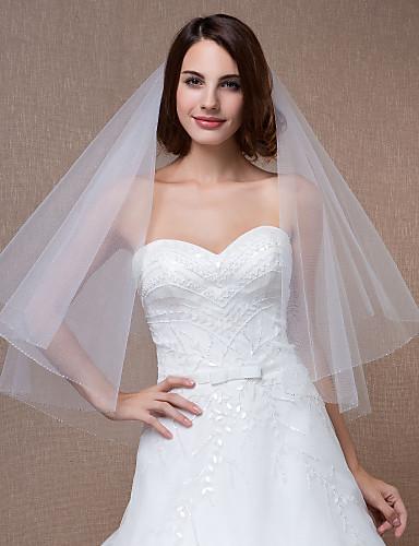 Un nivel Voal de Nuntă Voaluri Lungi Până la Cot Cu 31.5 in (80cm) Tulle