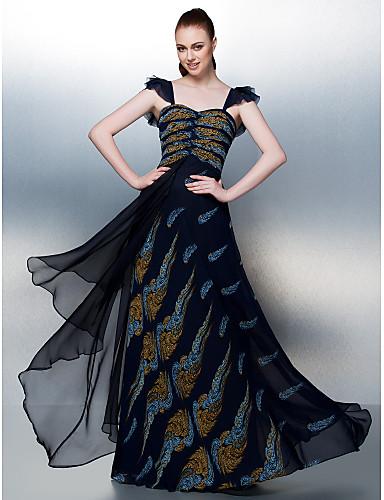 A-Şekilli Yere Kadar Şifon Haç ile Balo Elbise tarafından TS Couture®