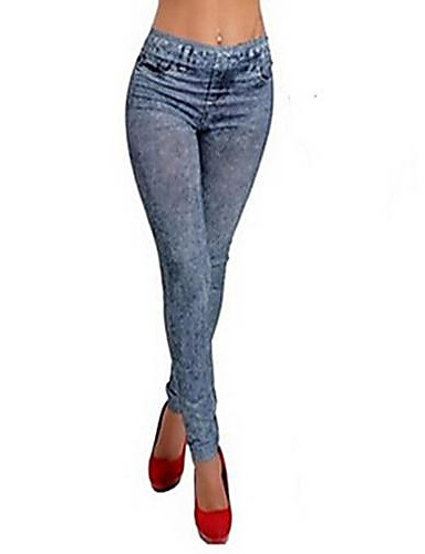 Damen Jeans Legging,Elasthan Medium