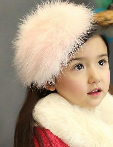 Girls' Hair Accessories, All Seasons Wool Headbands - White Pink