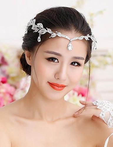 ราคาถูก มงกุฎ-พลอยเทียม / โลหะผสม tiaras / หมวก / Head Chain กับ 1 งานแต่งงาน หูฟัง