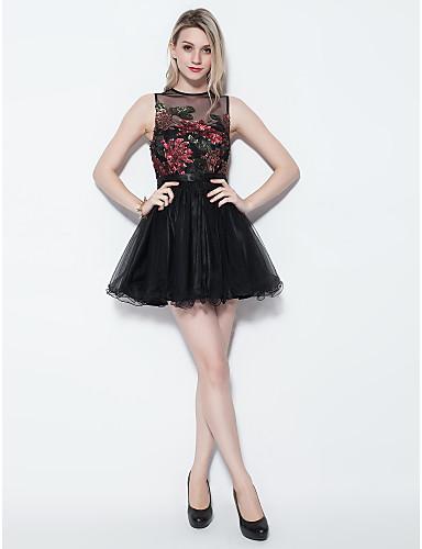 plesové šaty šperk krátký   mini tyl koktejlové šaty 2697672 2019 –  79.99 228696b3546