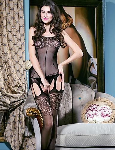 Damen Übergrössen Teddy Nachtwäsche - Gitter, Solide