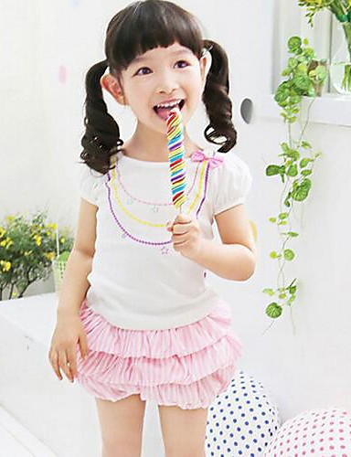 Girl's Summer Thin Short Sleeve Clothing Sets (Cotton) 2015 New Arrival