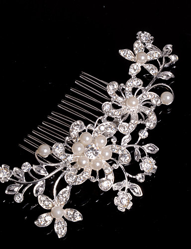 cheap Wedding Accessories-Alloy Hair Combs / Headwear with Floral 1pc Wedding / Special Occasion / Casual Headpiece
