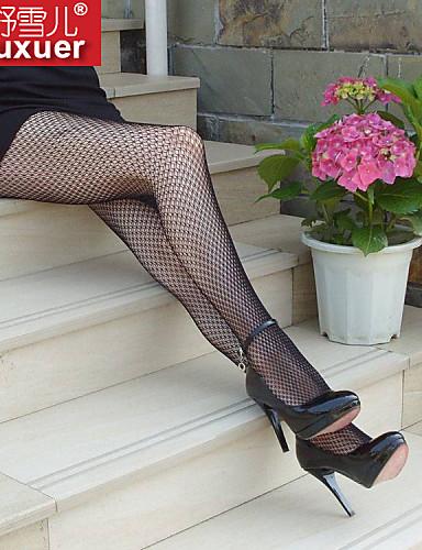 여성제품 울트라 섹시 잠옷 솔리드-여성의 면 / 폴리에스테르 블랙