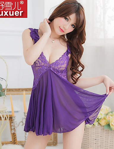 Shuxuer ® Women Lace/Polyester Ultra Sexy Nightwear (with T-back)