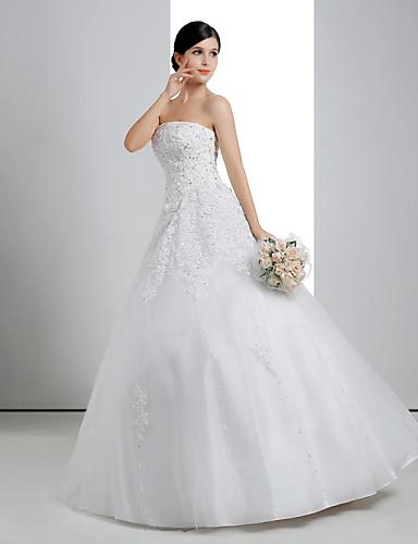 Svatební šaty Široká sukně Na zem - Bez ramínek Krajka Organza Šarmé  2976521 2019 –  149.99 9f735e3c91