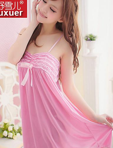 Ultra Sexy Vêtement de nuit Femme Couleur Pleine Polyester Rose