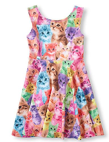 Κορίτσια Φόρεμα Καλοκαίρι Αμάνικο Μείγμα Βαμβακιού