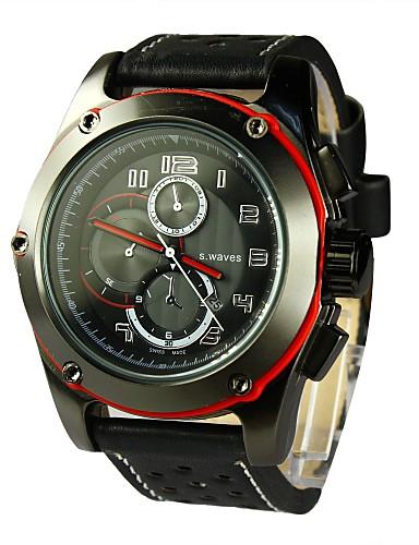 Men's  Calendar Feature Wrist Watch PU Band Quartz(Assorted Colors)