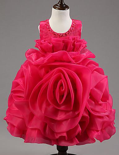 φόρεμα κορίτσι φόρεμα λουλουδιών κορίτσι μήκος - organza αμάνικο λαιμό κόσμημα με beading από ydn