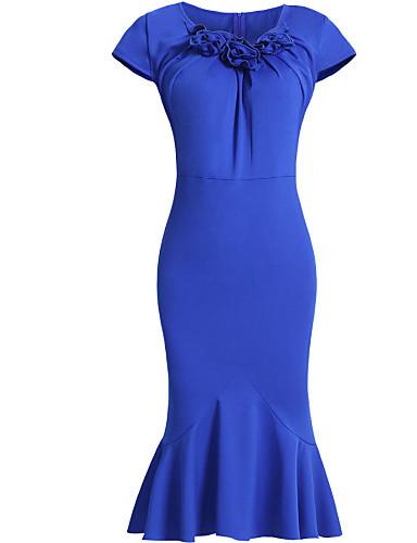 rocznik sexy BODYCON stroną dorywczo sukienka rękaw kobiet