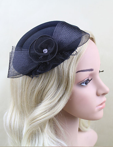 cheap Fascinators-Net / Satin Fascinators with 1 Wedding / Special Occasion Headpiece