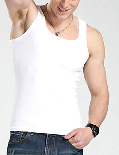 Herrn Sexy Solide Einfarbig - Unterhemden 1 Stück Mittlere Hüfthöhe