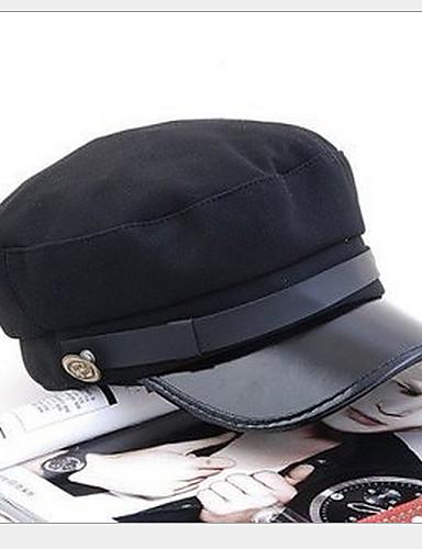 Γιούνισεξ Μονόχρωμο, Χαριτωμένο Πάρτι Γραφείο Καθημερινό PU Καπέλο ηλίου