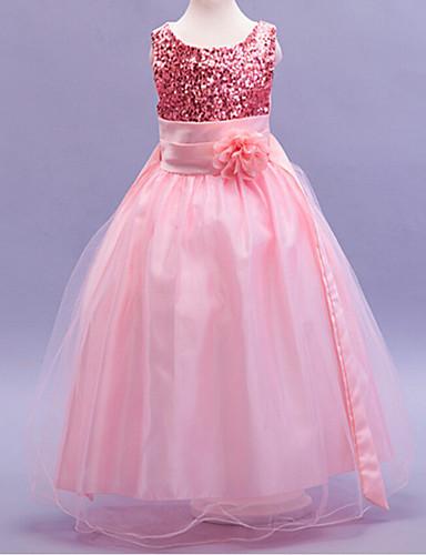 Girl's Jacquard Dress, Cotton Polyester Winter Spring Summer Fall Sleeveless Dresswear Bow Navy Blue Red Green Blue Pink