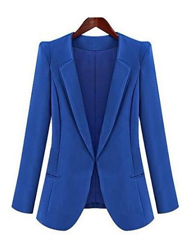 naisten pudotuslenkki, kiinteä pitkähihainen sininen / musta keskipitkän kevät syksyllä