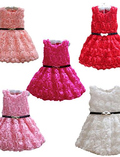 Sukienka Bawełna Akryl Dziewczyny Kwiaty Na każdy sezon Bez rękawów