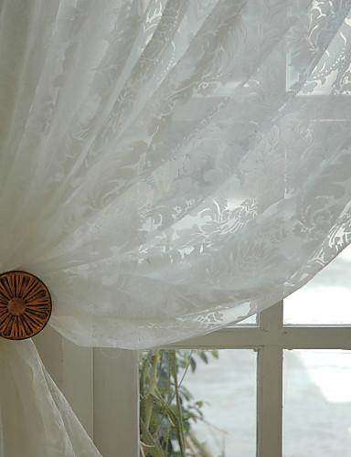 billige Egendefinerte gardiner-Ferdiglaget Økovennlig Gardiner Skygge To paneler 2*(W183cm×L160cm) / Mønstret / Soverom