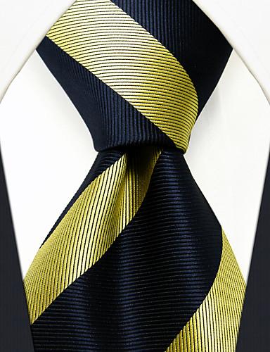 Homens Festa Trabalho Básico Raiom, Gravata - Básico Listrado Estampa Colorida Jacquard