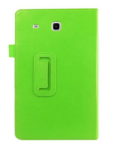 Etui Käyttötarkoitus Samsung Galaxy Tab E 9.6 Tuella / Flip Suojakuori Yhtenäinen PU-nahka