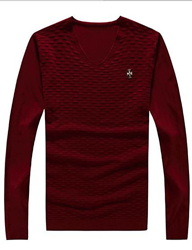 Men's Simple Pullover - Solid Colored