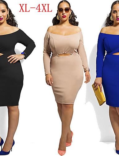 VIVI Women\'s Solid Colored Multi-color plus size Dresses 4567652 ...