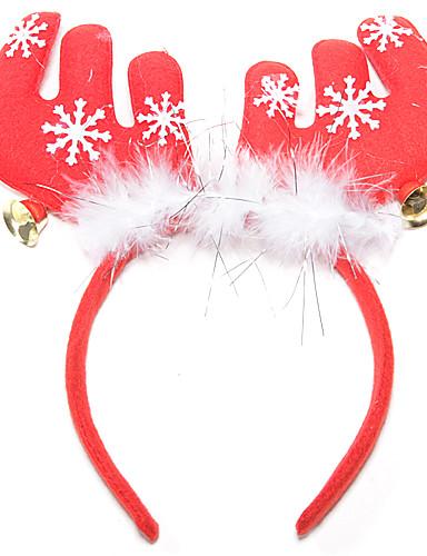 voordelige Kerst Kostuums-Kerstfeest Artikelen Rendiergewei hoofdband Jingle Bell tekstiili Veren Katoen Speeltjes Geschenk 1 pcs
